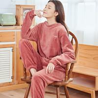 PLUS会员 : 逸少 女士珊瑚绒睡衣